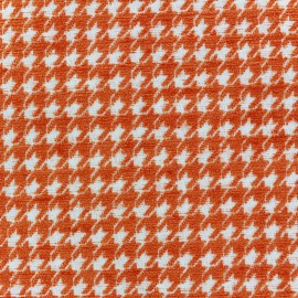Tissu jacquard velours Boston - orange x 10cm