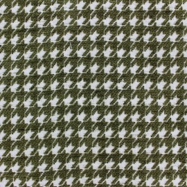 Jacquard fabric Boston - olive green x 10cm