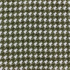 Tissu jacquard velours Boston - vert olive x 10cm