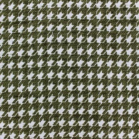 Tissu jacquard Boston - vert olive x 10cm