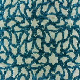 Tissu jacquard Nath - bleu paon x 10cm