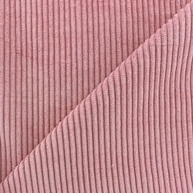Thick ribbed velvet fabric - pink x 10cm