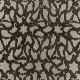 Tissu jacquard velours Nath - taupe x 10cm