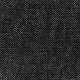 Tissu jacquard Masym - noir x 10cm