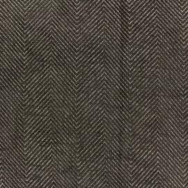 Tissu jacquard velours Masym - taupe x 10cm