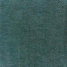 Tissu jacquard Masym - bleu paon x 10cm