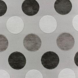 Tissu jacquard velours Arles - gris x 10cm