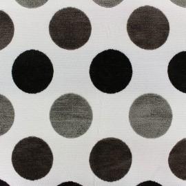 Tissu jacquard velours Arles - écru x 10cm