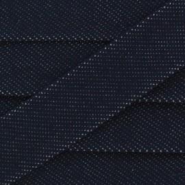 Biais jeans élastique - bleu foncé x 1m