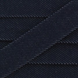 Bias binding stretch jeans - dark blue x 1m