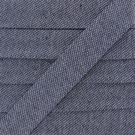 Biais jeans élastique - bleu denim x 1m