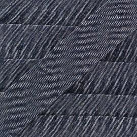 Biais jeans 100% coton - bleu x 1m