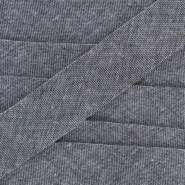 Biais jeans 100% coton - bleu denim x 1m