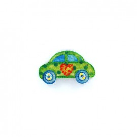 Embroidered iron on patch Transports Fun - Voiture