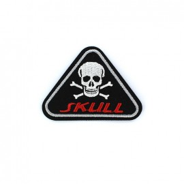 Embroidered iron on patch Blason Men - SKULL