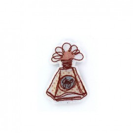 Embroidered iron on patch Parfum Glitter - A