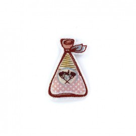 Embroidered iron on patch Parfum Glitter - D