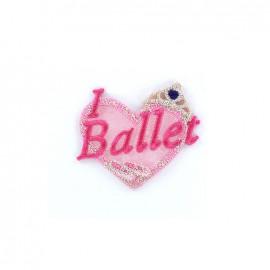 Thermocollant Danse brodé - I Love Ballet