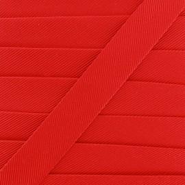 Biais gros grain - rouge x 1m