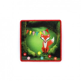 ♥ Embroidered iron on patch Conte Matriochka brodé - Fox Party ♥