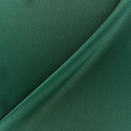 Crepe with satin reverse side Fabric - fir green x 10cm