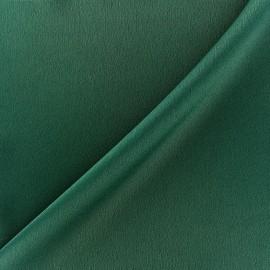 Tissu crêpe envers satin vert sapin x 10cm