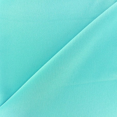 Crepe with satin reverse side Fabric - iceberg x 10cm