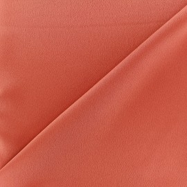Tissu crêpe envers satin terracotta x 10cm