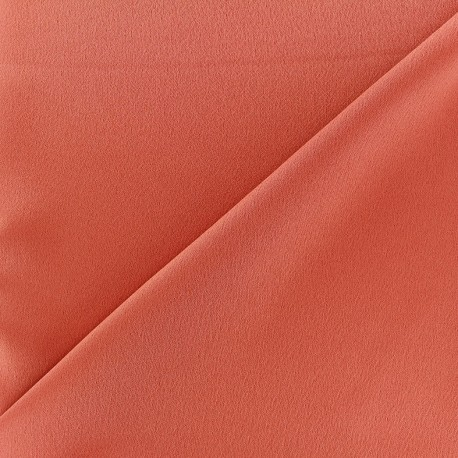 Crepe with satin reverse side Fabric - terracotta x 10cm