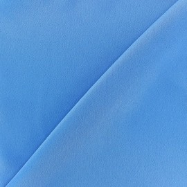 Crepe with satin reverse side Fabric - bleuet  x 10cm