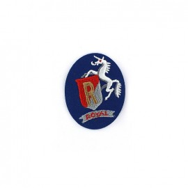 Embroidered iron on patch  Sport  - ROYAL blue