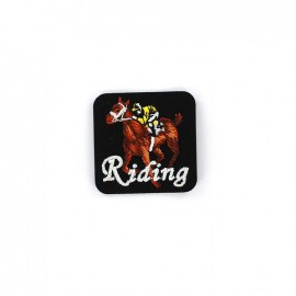 Embroidered iron on patch  Sport  - RIDING