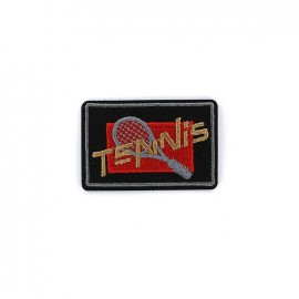 Embroidered iron on patch  Sport  - TENNIS