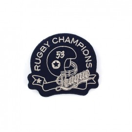 Embroidered iron on patch Rugbu  - RUGBY CHAMPIONS