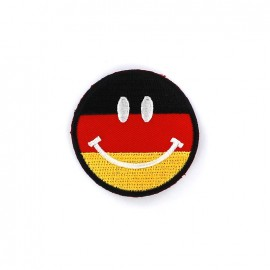 Embroidered iron on patch  Smiley  - Germany