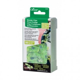 1 Set of 50 wonderclips Prodiges - néon green