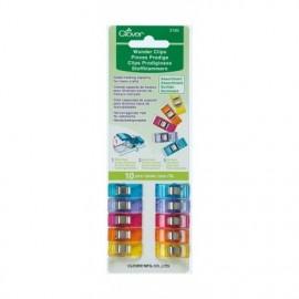 1 set of 10 wonder clips Prodiges - multicolored