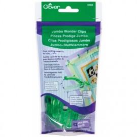 1 set of 24 wonder clips Prodiges Jumbo - green