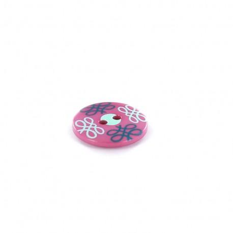 Polyester button Tante Ema Arabesque - purple
