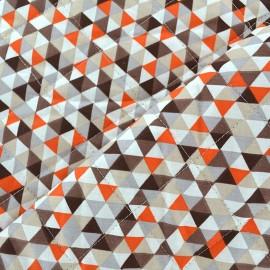 Tissu matelassé Trimix taupe/orange x 10cm