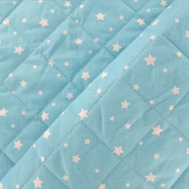 Quilted cotton fabric Scarlet - sky x 10cm