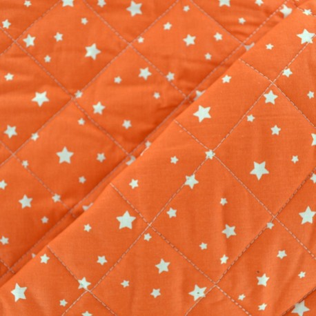 Quilted cotton fabric Scarlet - pumpkin x 10cm