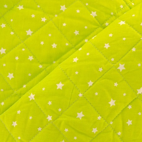 Tissu matelassé Scarlet lime  x 10cm