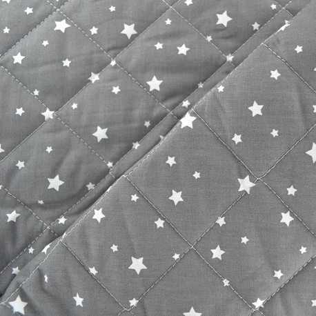Quilted cotton fabric Scarlet - anthracite x 10cm