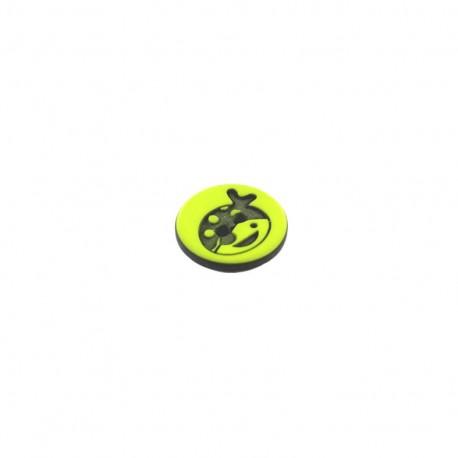 Polyester button rond Tête de Pirate - green