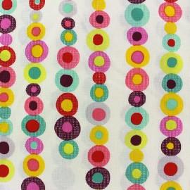 Tissu enduit coton Badabul - multicolore x 10cm