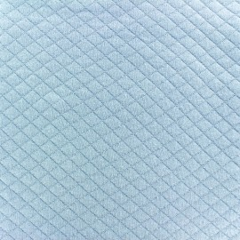 Quilted jersey fabric Diamonds 10/20 - light blue x 10cm