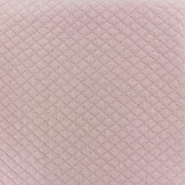 Quilted jersey fabric Diamonds 10/20 - light pink x 10cm