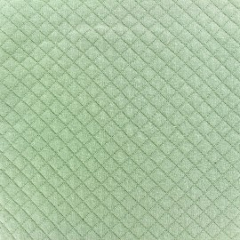 Quilted jersey fabric Diamonds 10/20 - jade green x 10cm