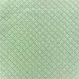 Tissu jersey matelassé losanges 10/20 - vert jade x 10cm
